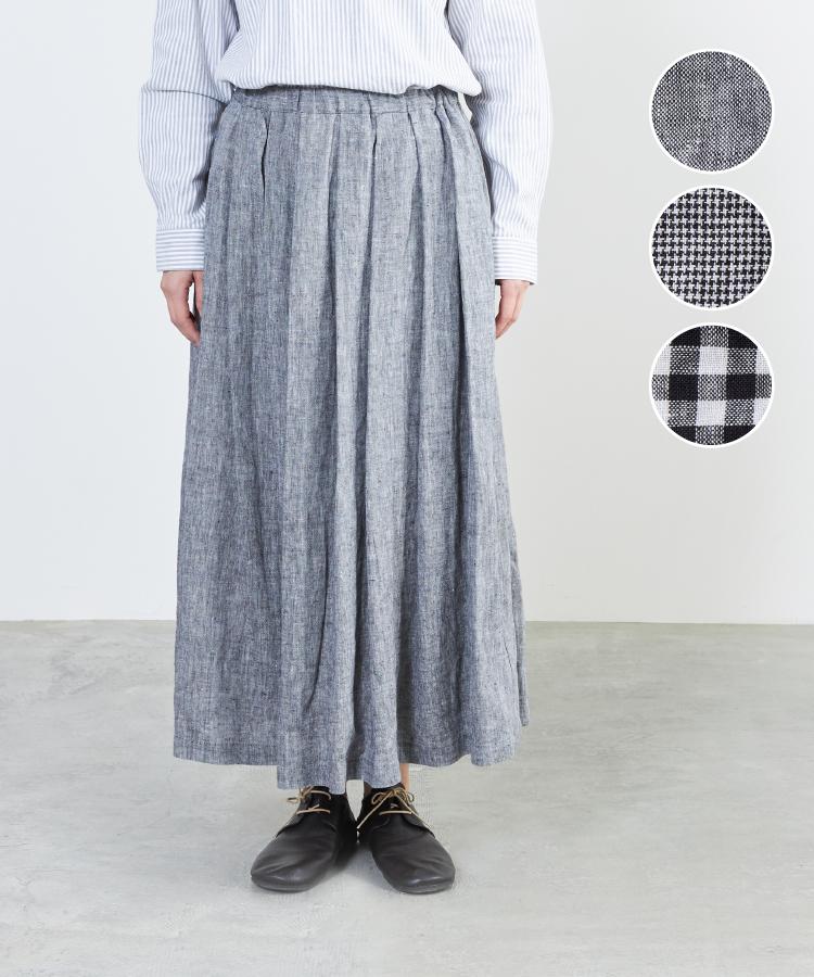 【nofl】リトアニアリネンモノトーンスカート