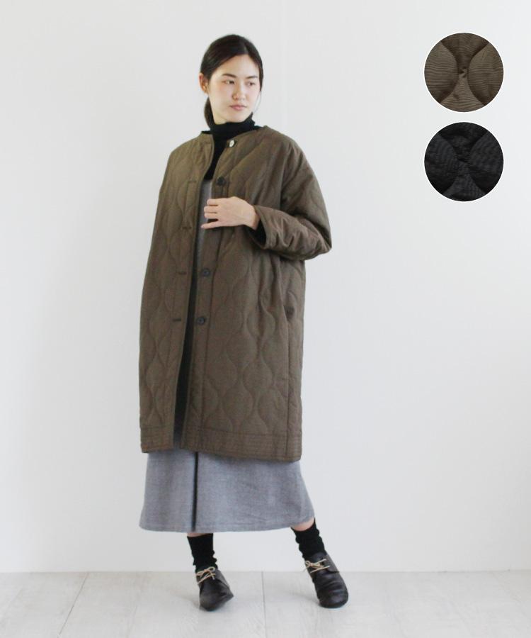 【YARRA】バックギャザーキルティングコート